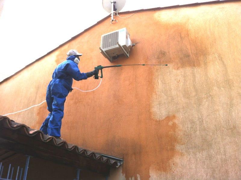Nettoyage professionnel des fa ades ecojet - Pulverisateur electrique toiture ...