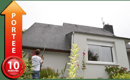 Anti mousse toiture comment l 39 appliquer ecojet - Lance telescopique pulverisateur toiture ...
